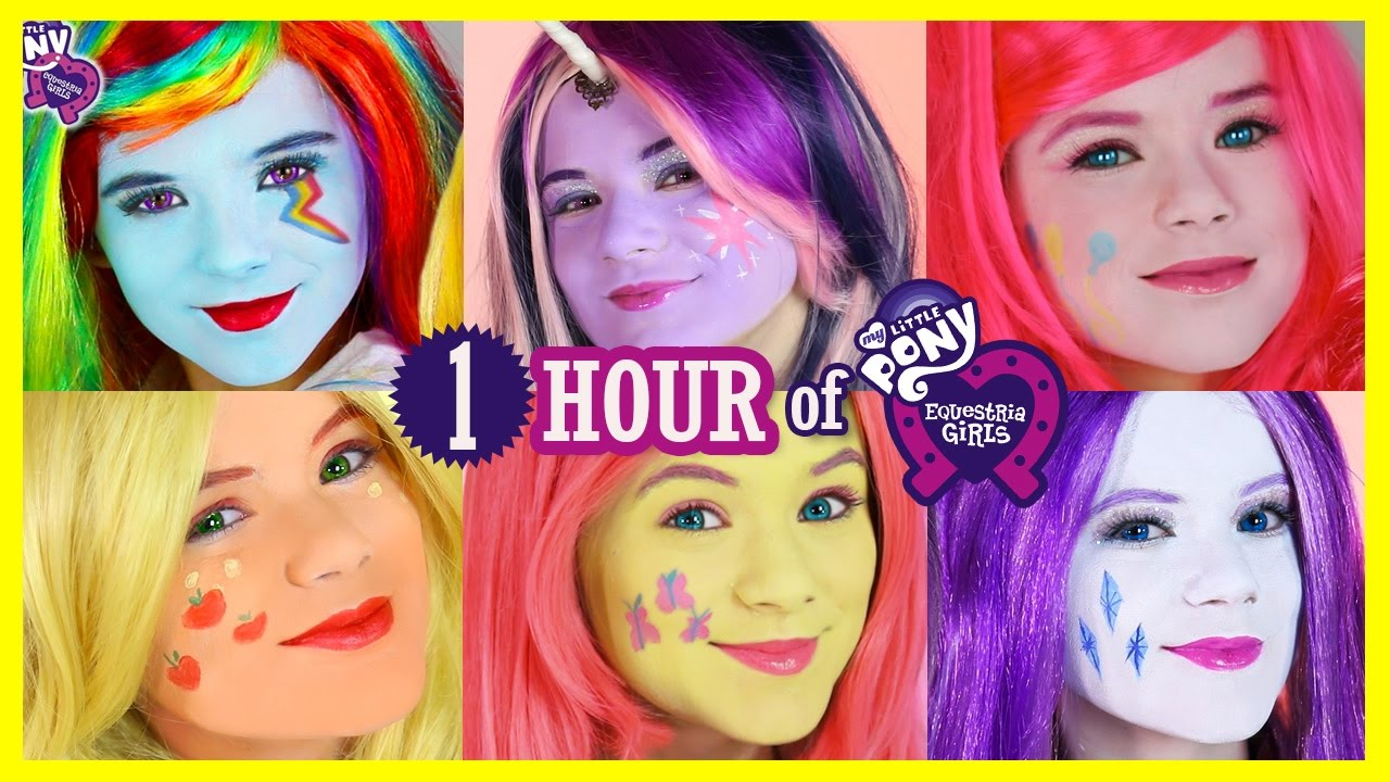 1 Hour My Little Pony Mane 6 Makeup Tutorials Rainbow Dash Pinkie