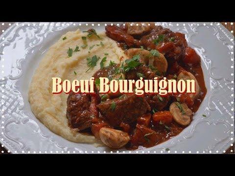 전설의 프랑스 요리 비프 브루기뇽 만들기!(불어 오프닝🇫🇷)