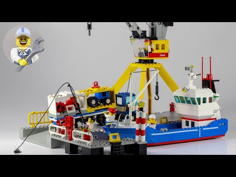Lego Town 6541 Intercoastal Seaport / harbour / Frachthafen speed build + clips
