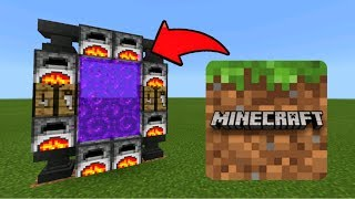 Minecraft Pe How To Make a Portal To The Minecraft Dimension - Mcpe Portal To The Minecraft!!!