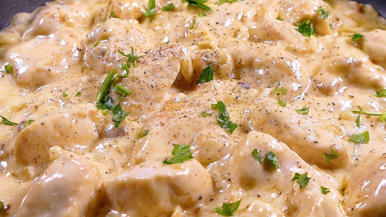 Pechugas de pollo en salsa de queso recetas de cocina for Platos faciles de cocinar