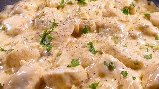 Chicken breasts in cheese sauce - easy recipes