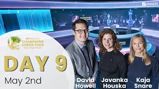 $1.5M Meltwater Champions Chess Tour: New In Chess Classic | Day  9| D. Howell, J. Houska & K. Snare