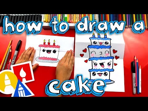 how-to-draw-a-birthday-cake-tower-(folding-surprise)