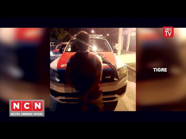 CINCO TV - Violento golpeó brutalmente a su pareja y el COT captó la escena y lo detuvo