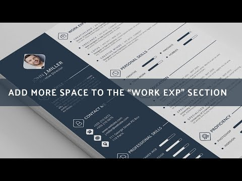 Quick Tutorial -  How to add more space in the Work Experience Section on THE CV