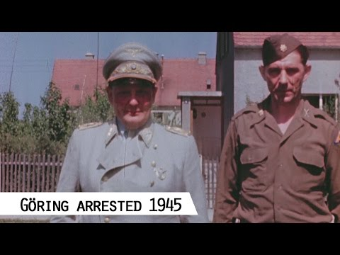 Hermann Göring In Custody On May 15, 1945 (in Color And HD)