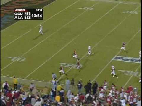 2006 - Oklahoma St vs Alabama -Javier Arenas