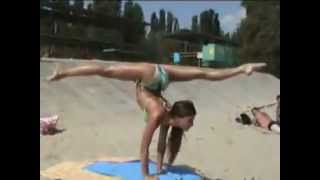 Contortion on the beach