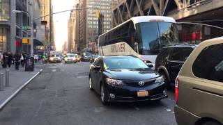 RARE CATCH OF NY & NJ PORT AUTHORITY POLICE UNIT RESPONDING ON 8TH AVE. IN MANHATTAN, NYC.