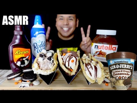 asmr-reese's,-nutella-+-cookies-n-cream-ice-cream-taco-collab-|-holly-lynn-asmr-|-real-eating-sounds