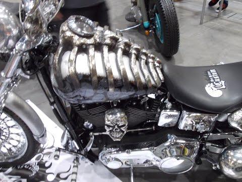 Skeleton custom motorbike