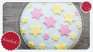 Fondant-Motiv-Torte - einfacher Einstieg mit Fondant | elegant-kochen.de