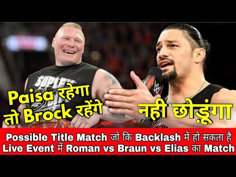 Roman Reigns Warning || Brock Lesner Contract Update || Big Plans For Big Cass || New Match Backlash
