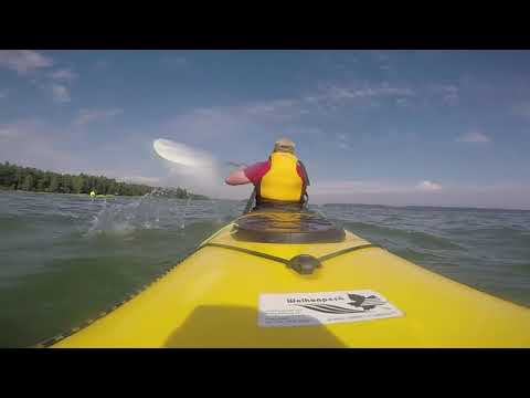 Sea kayaking at Gulf of Finland