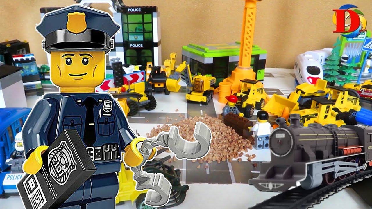 Мультфильмы про машинки. ЛЕГО мультики для детей про Полицейскую машинку, Поезд и Трамвай