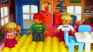 Лего мультик для детей. Настоящие друзья. Игры. Дочки матери.