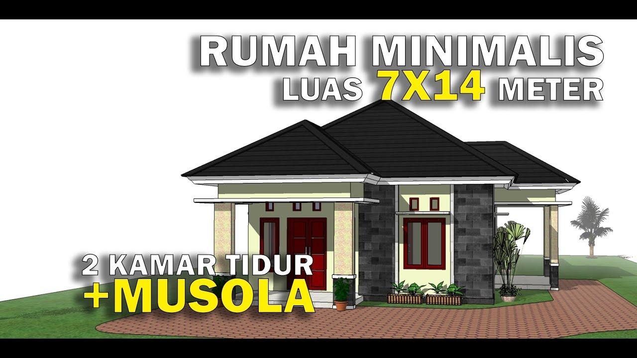 Rumah Minimalis Luas 7x14 Dengan 2 Kamar Tidur Youtube