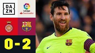 Lionel Messi! Einfach immer dieser Lionel Messi: Girona - Barcelona 0:2 | La Liga | DAZN Highlights