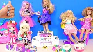 Аксессуары, Маникюр, Наряды и Украшения Своими руками для Кукол  Барби и Шопкинс Мультик!