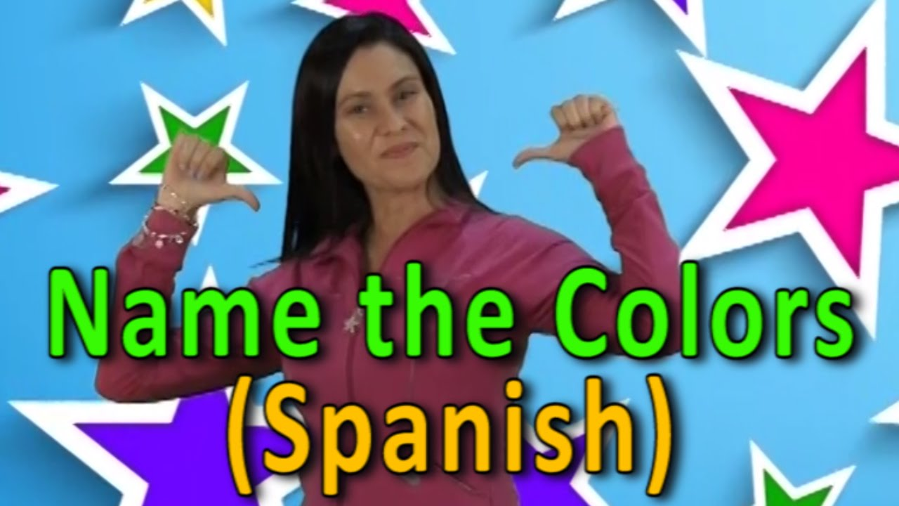 Name The Colors in Spanish   Colors   Colors Song   Name The Color ...