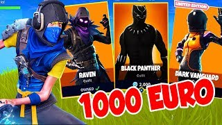1000 EURO for FORTNITE SKINS! *New*