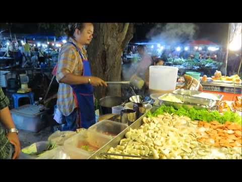 **THAI SEAFOOD SALAD**  Thai Street Food Night Market Phuket Thailand Travel