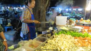 **THAI SEAFOOD SALAD RECIPE**Thai Street Food Night Market Phuket Thailand Asia Travel trip shopping