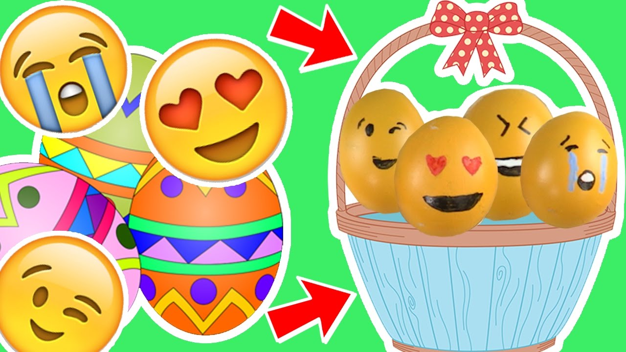 how to make emoji easter eggs learning painting easter craft