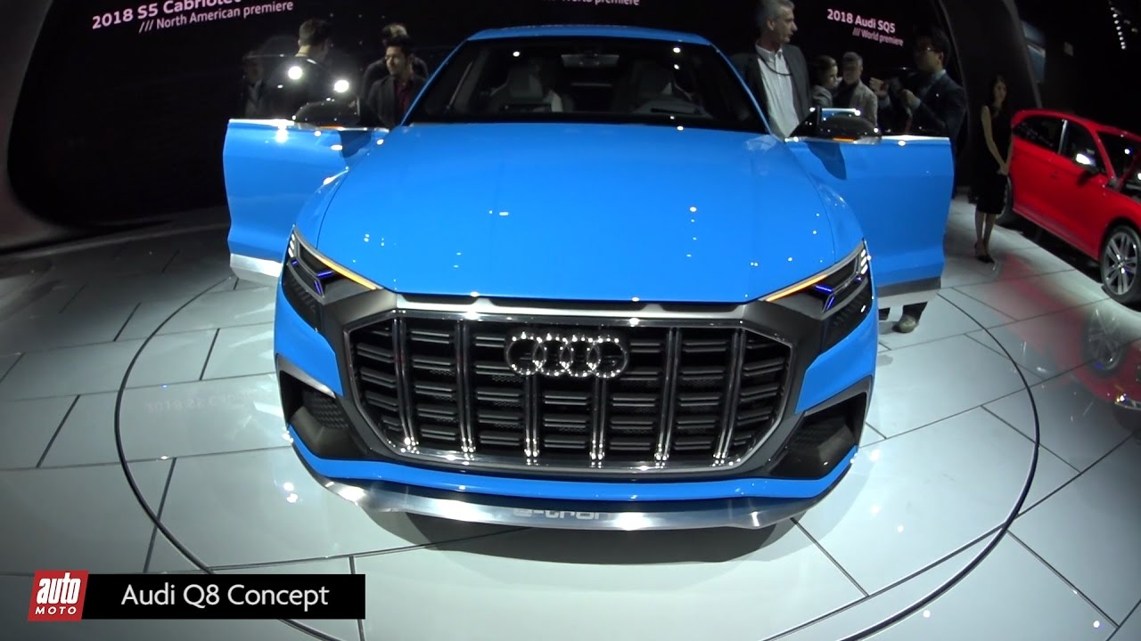 audi q8 concept salon detroit 2017 le futur gros suv coup aux anneaux youtube. Black Bedroom Furniture Sets. Home Design Ideas