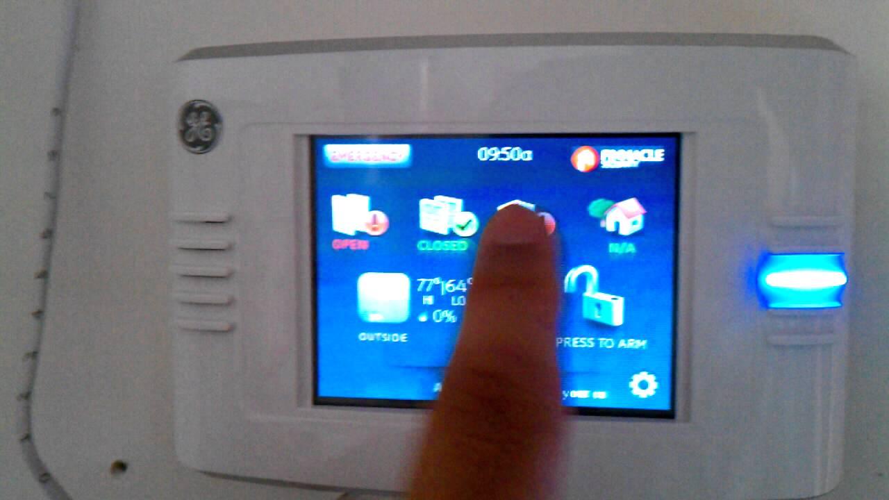 Simon XT Wireless Touchpad Touch Screen -Failure - YouTube