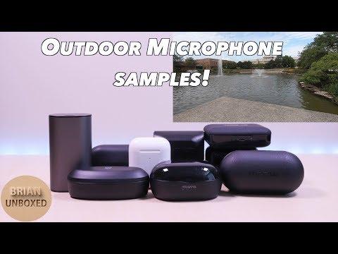 True Wireless Earbuds - Outdoor Microphone Sound Test! (Apple, JLab, Mpow, Sabbat, Creative, more..)