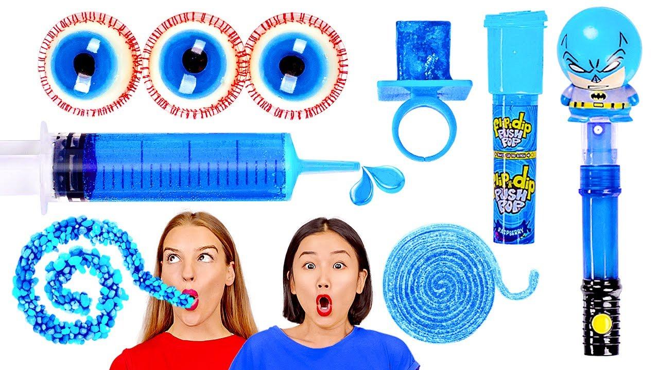 Download DANIA W JEDNYM KOLORZE PRZEZ 1 DZIEŃ! Kto ostatni zje niebieski PRZEGRYWA! 123 GO! CHALLENGE
