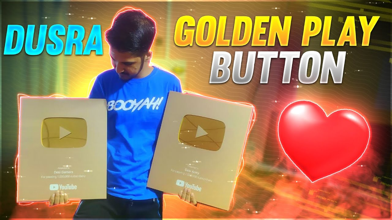 Our 2nd Golden Play Button || Desi Army