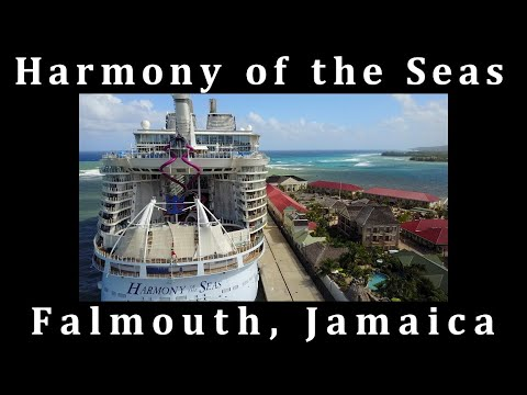 Best Footage of Harmony of the Seas in Falmouth Jamaica!