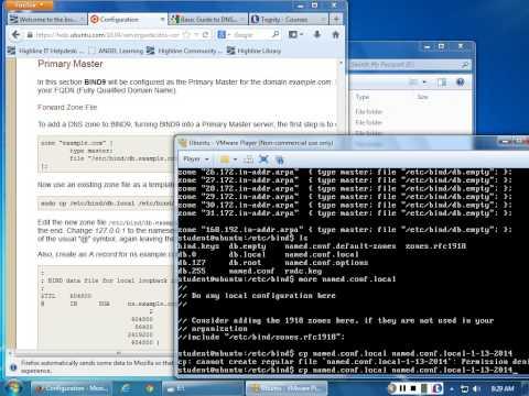 Ubuntu DNS Primary Master Setup