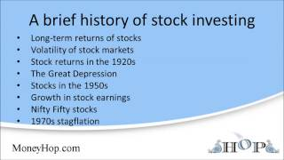 A brief history of stock investing