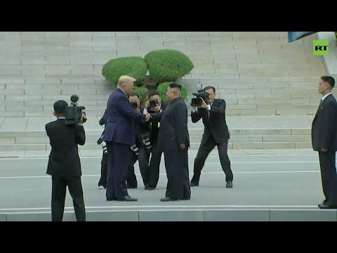 Трамп и Ким Чен Ын пожали друг другу руки на границе КНДР и Южной Кореи — видео