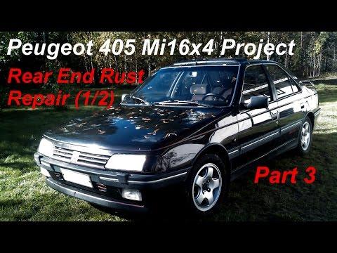 Peugeot 405 Mi16x4 Project – Part 3 – Rear End Rust Repair (1/2)