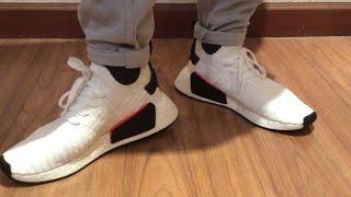 NMD R2 PK Panda on feet - YouTube