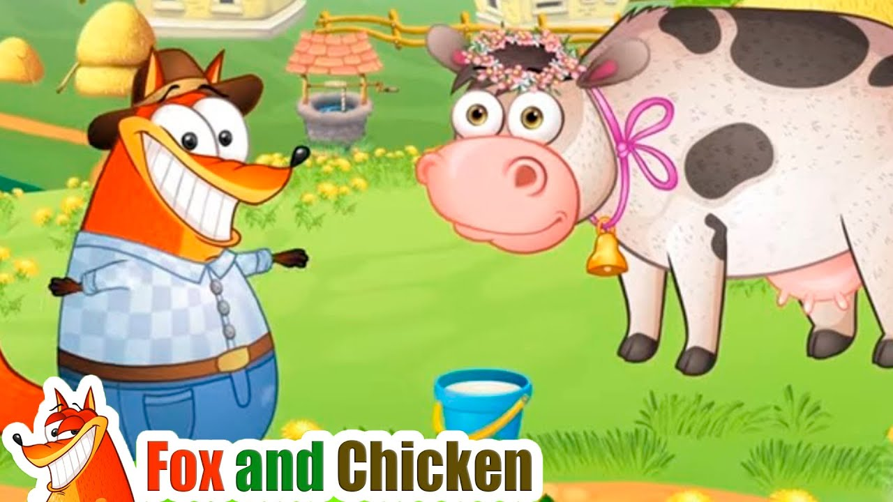 The Farmer in the Del | l Nursery Rhymes & Kids Songs - Fox and Chicken