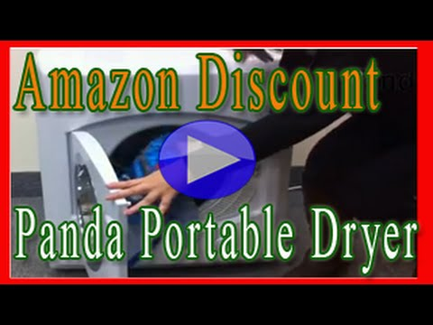 Panda Portable Compact Cloths Dryer Apartment Size - YouTube