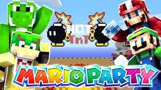 Mario Minecraft! - REAL MARIO PARTY IN MINECRAFT! [64]
