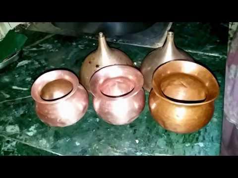 तांबे और पीतल  के बर्तन चमकाने का सरल उपाए - Simple Trick To Clean Bronze Copper.