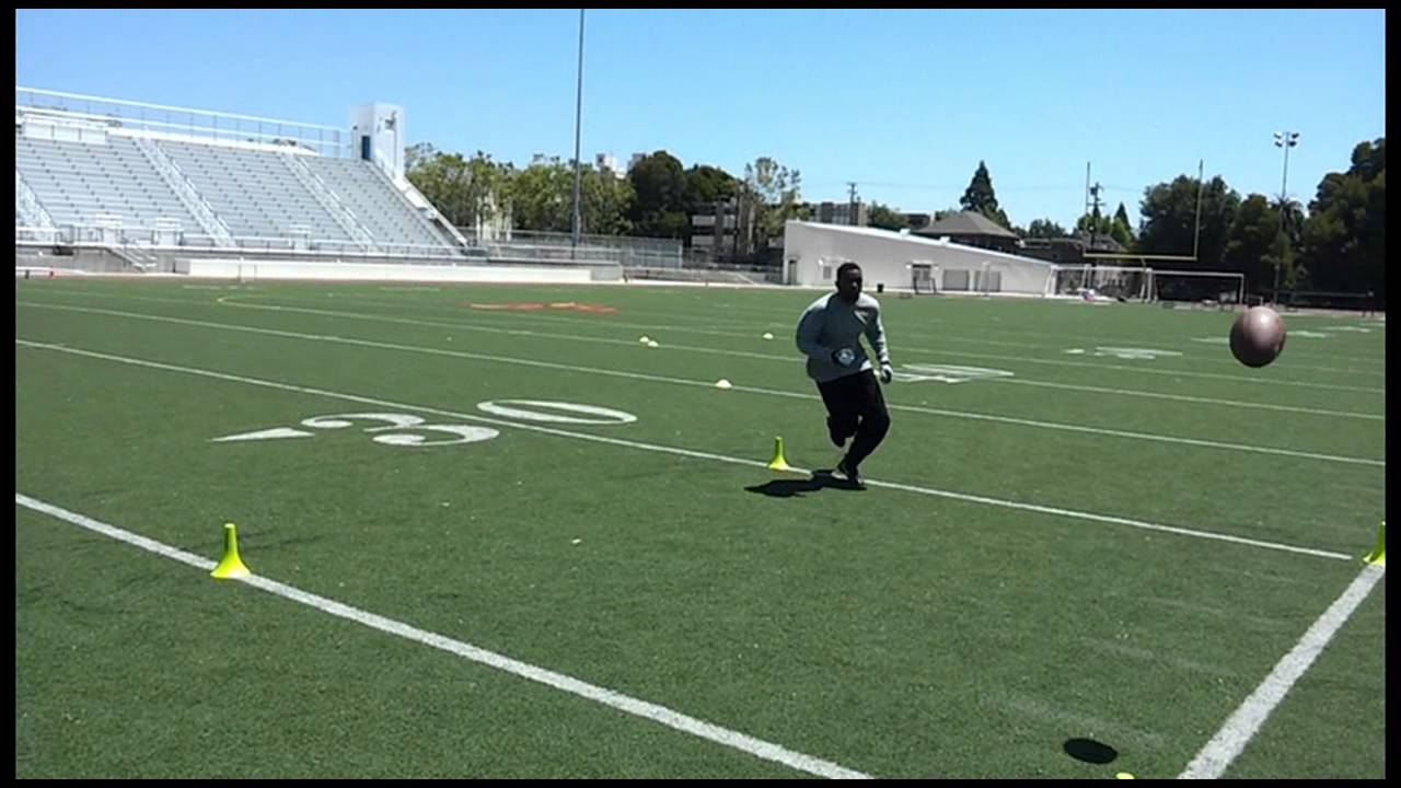 Football Wide Receiver: Wall Catching Drill | Football ...