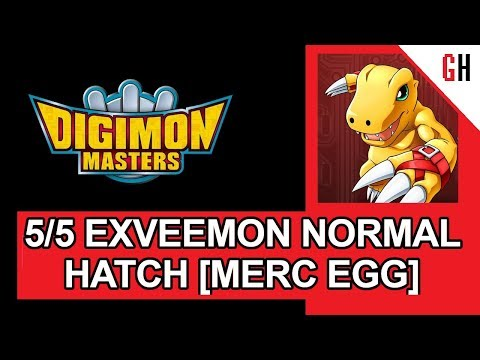 Normal Hatching level 5 Exvmon from merc eggs