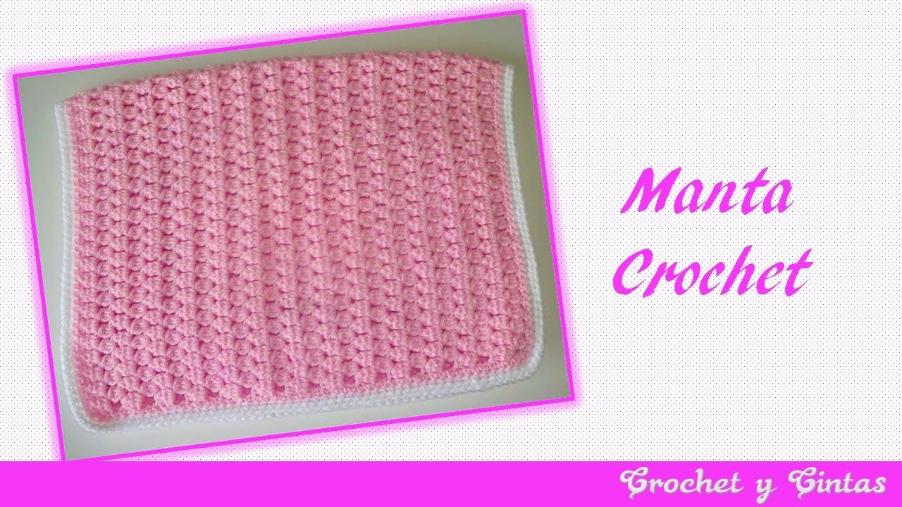 Manta tejida a crochet - ganchillo - YouTube