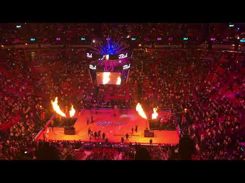 Miami Heat Starting Lineup(American Airlines Arena)