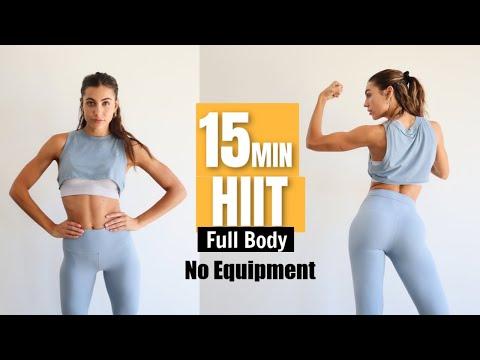 15 MIN HIIT Full Body Workout // No Equipment + Floor Exercises // Sami Clarke