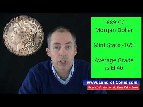 1889-CC Morgan Dollar Value And Facts. | Land Of Coins .com.